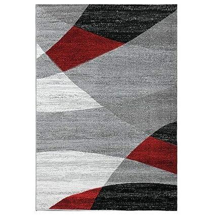 /Öko Tex Certifi/é Beige 60x110 cm Vimoda Moderne Salon Tapis G/éom/étrique Motif Mouchet/é Marron Beige