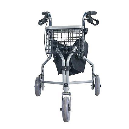 Andadores 3 Ruedas para Personas Mayores,empuñaduras ergonómicas,Frenos de Bloqueo,Altura Ajustable