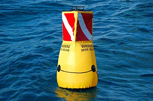 3dBuoy 3D Diver Bellow Mooring Buoy 360 Degree LED Light for Night Scuba Diving HIGH Visibility ()