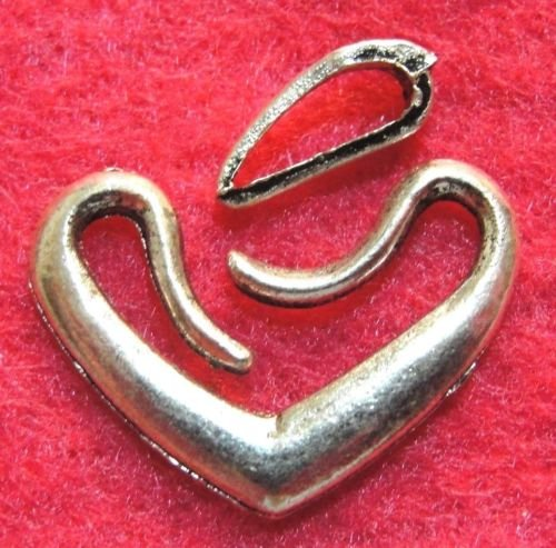 10Sets Heart HOOK EYE Clasps Connectors Hooks Findings C156 DIY Crafting Key Chain Bracelet Necklace Îewelry Accessories Pendants