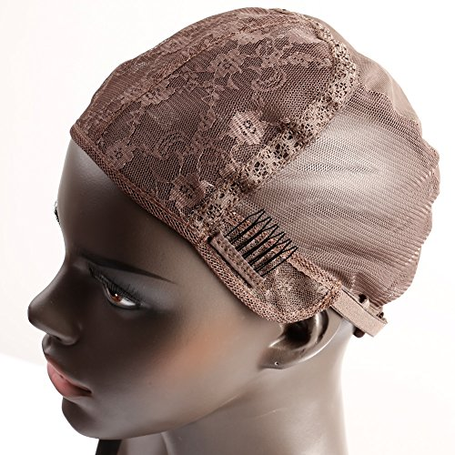 Bella Hair Glueless Wig Caps for Making Wigs with Combs and Adjustable Straps Swiss Lace Brown Small Size