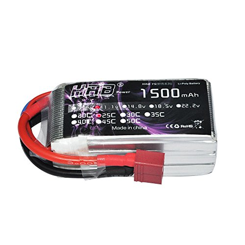 tery 25C-50C 11.1V 1500mAh with Deans plug for RC Car Truck Boat Airplane Heli (Lipo Lift)