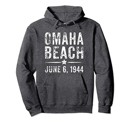 Commemorative Hoody (Unisex Omaha Beach Hoodie - Commemorative Battle of Omaha Beach Gif XL: Dark Heather)