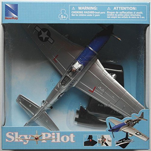 New 1:48 NEW RAY SKY PILOT COLLECTION - SKY PILOT PLANES P-51 MUSTANG Model By NEW RAY (New Ray Pilot)