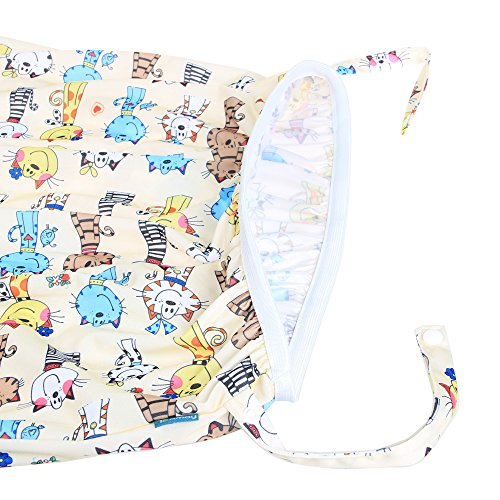 Teamoy Reusable Pail Liner for Cloth Diaper/Dirty Diapers Wet Bag, Cats