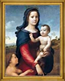 "Giuliano Bugiardini The Madonna and Child with the Infant St John the Baptist - 21.5"" x 28.5"" Framed Premium Canvas Print"