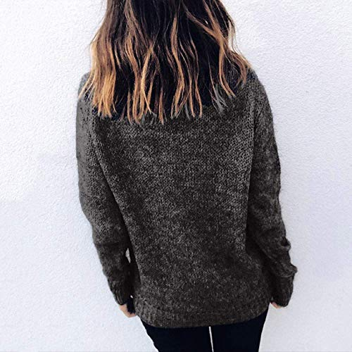 maxsoul Women s Womens Turtleneck Knitted Sweater Long Sleeve Solid Loose  Jumper Pullover Blouse at Amazon Women s Clothing store  1c2482c1f