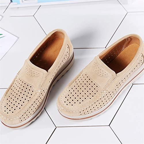 Donne Autunno Albicocca Scarpe camoscio Femal Casual Shoes Flats Sneakers Pelle A rpFwrt