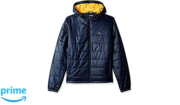 9291778cded6 Amazon.com  Lacoste Boy Sport Hooded Taffeta Tracksuit Jacket  Clothing