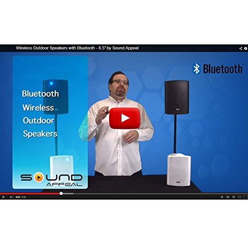 Bluetooth 6.50'' Indoor/Outdoor Weatherproof Patio Speakers, Wireless Outdoor Speakers (Black- pair),by Sound Appeal by Sound Appeal (Image #2)