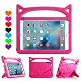 iPad 9.7 5th 6th Case - iPad Pro 9.7 Case - Huaup Kids Shock Proof Handle Light Weight Super Protective Stand Cover Case for Apple iPad 9.7 2017 2018 Air 2 iPad Pro 9.7 Tablet (Pink)