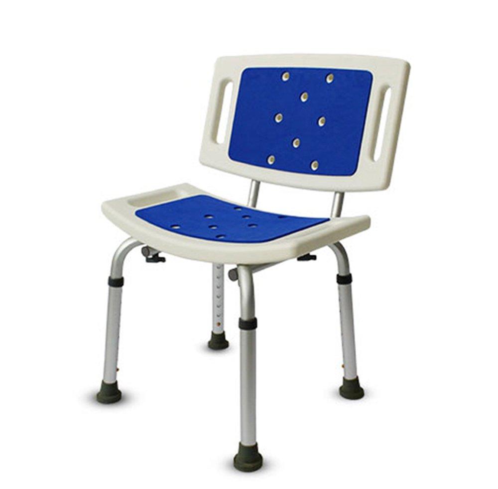 Shariv-シャワーチェア シャワー椅子/高齢アルミニウム合金のバスチェア/バススツール/妊娠中の女性は、シャワーの椅子/スリップバスアメニティ/ベアリング重量150KG/8グレードの高さ調節可能なバスチェア/40 * 36 *(40-56) B07DKXKH84