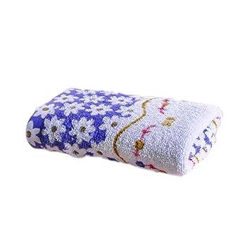 33 * 73cm de algodón estampado de toalla absorbente seco toallas de mano se enfrentan a tres colores: Amazon.es: Hogar