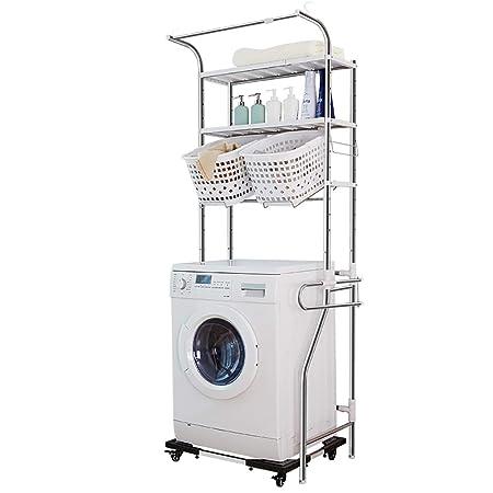 Estante de la lavadora Estante para lavadora de 2 capas de acero ...
