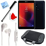 Samsung SM-T380NZKEXAR 8'' Galaxy Tab A 32GB Tablet (2017) (Black) Deluxe Bundle with Stylus Pen, In-Ear Headphones, and Tablet Case
