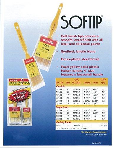 Wooster Brush Q3208-2 Softip Angle Sash Paintbrush, 2-Inch
