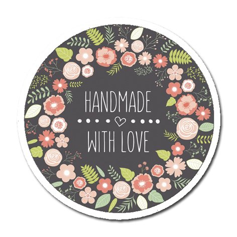 50 stickers handmade with love stickers amazon co uk kitchen home