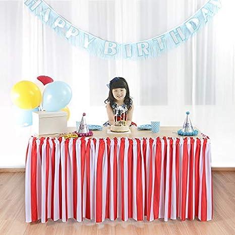 Amazon.com: Suppromo - Falda de mesa de poliéster para ...