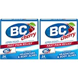 BC 24 Powders Aspirin Fast Pain Relief Powder | Cherry Flavored | 2 Count