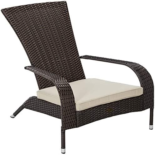 Patio Sense 3-Piece Wicker Lounge Chair Set of 2 and Glass-Top End Table Set