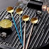 Spoon Stainless Steel Stirring Coffee Spoon Peacock Blue