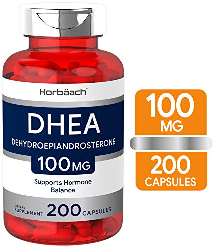 DHEA 100mg   200 Capsules   Non-GMO, Gluten Free Supplement   by Horbaach from Horbäach