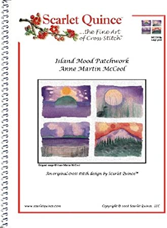 by Anne Martin McCool Counted Cross Stitch Chart upper left Large Size Symbols Scarlet Quince MCC002-ULlg Island Mood Patchwork