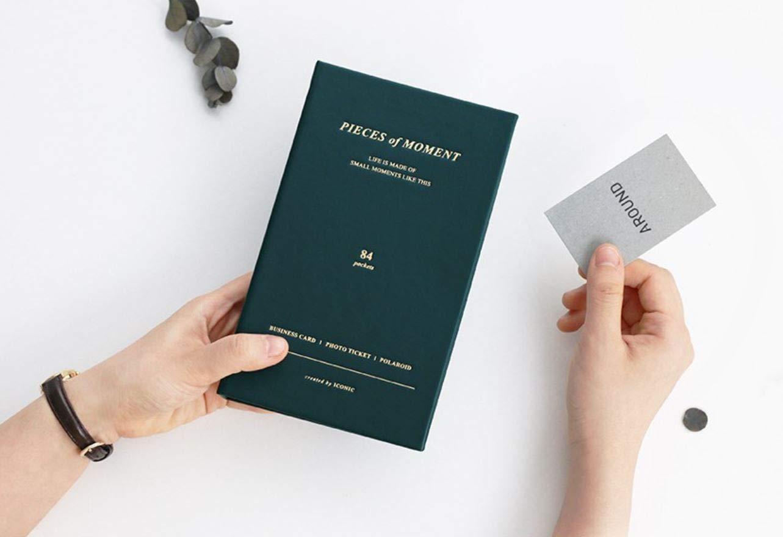 Iconic pezzi di momento Portabiglietti/ organizer Instax Mini photo album Indi Blue /Porta biglietti da visita