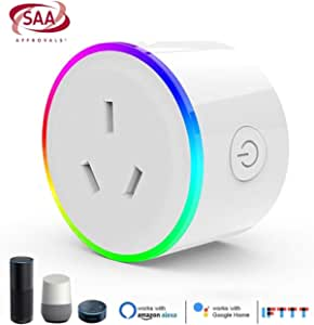 Aiconez Mini Smart Plug Mini Power Outlet Wi-Fi Enabled Smart Socket Compatible with Amazon Alexa Google Home Remote Control You can Access Anytime Anywhere. (1pc Mini Socket)