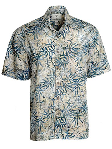 Artisan Outfitters Mens Oasis Batik Cotton Shirt (5XB, Tropic Green) A0214-28-5XB