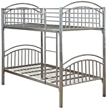 Humza Amani Lynton Metal Bunk - Single, 2-Piece, Silver