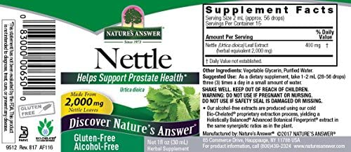 Natures Answer Nettle af 1oz 2000mg