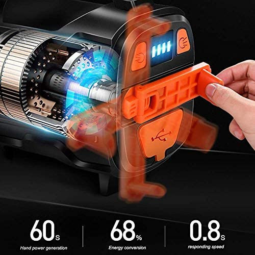 Aycpg Powerful Rechargeable LED Flashlight 3500lm Spotlight Searchlight Camping Lantern with USB Waterproof for Camping Hiking