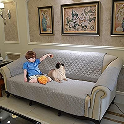 Kathsun Sofa Buddy Reversible Couch Cover for Dogs , Kids, Pets- Sofa Slipcover Set Non-Slip Furniture Protector