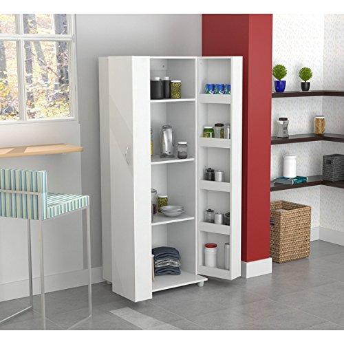 Amazon Com Inval Laricina White Kitchen Storage Cabinet White