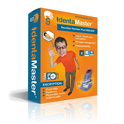Biometric Software for SecuGen Hamster Plus-HSDU03P - PC Biometric Encryption / Biometric Access Control / Biometric Interoperability by IdentaMaster (Plus Hamster)