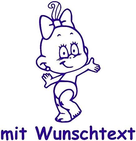 Windel Winni Xl Babyaufkleber Mit Name Wunschtext Motiv Ww26 25 Cm Auto