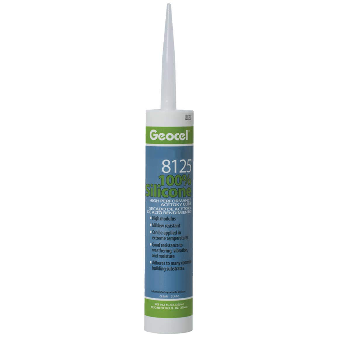 Geocel 8125 High Performance Acetoxy Cure (Carton of 12, Clear)