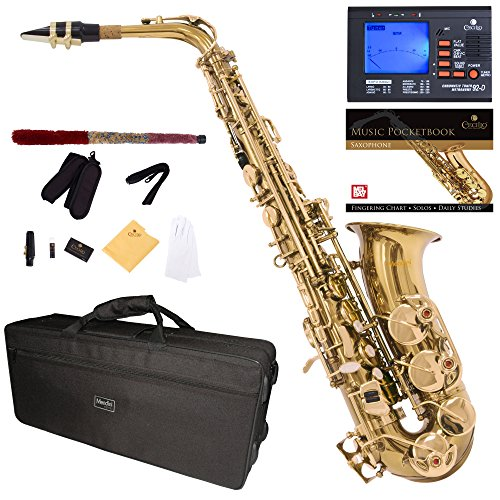 mendini-by-cecilio-eb-alto-sax-w-tuner-case-mouthpiece-10-reeds-pocketbook-and-1-year-warranty-gold