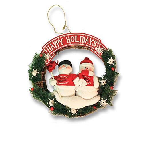 (Arkansas Team Snowman Wreath (20 in.) )