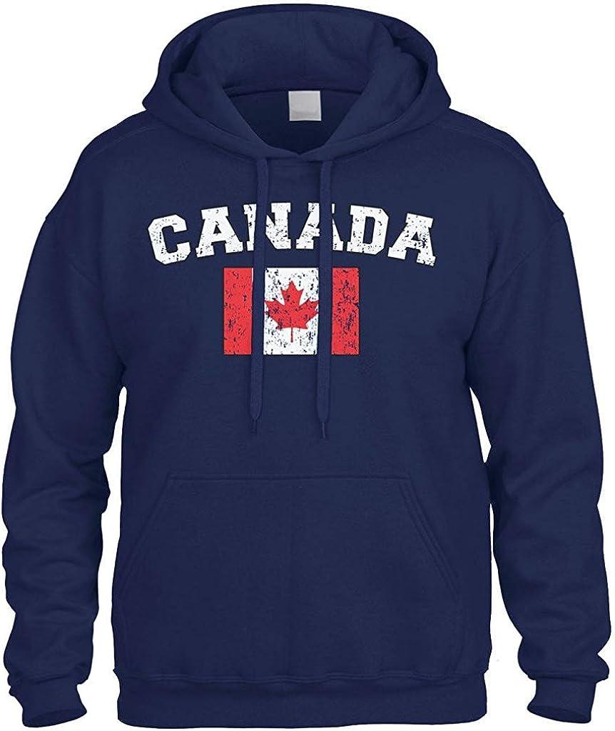 Faded Distred Canada Flag Sweatshirt Hoodie Hoody