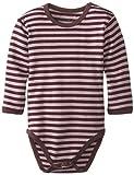 L'ovedbaby Unisex-Baby Newborn Organic Long Sleeve Bodysuit, Lavender/Eggplant, 18/24 Months