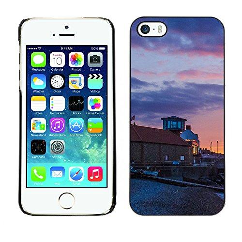 Premio Sottile Slim Cassa Custodia Case Cover Shell // F00004695 le coucher du soleil // Apple iPhone 5 5S 5G