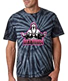 Silo Shirts TIE DIE BLACK Bret Hart WWF T-Shirt YOUTH