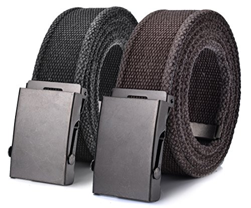 Canvas Belt Military Tactical Waist Web Belt by (Canvas Waist Belt)