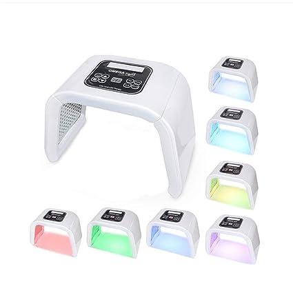 Portable PDT LED Fotón Luz Terapia 7 Colores LED Cara Máscara Luz Fototerapia Lámpara Máquina Para