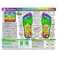 Rainbow FOOT Reflexology /Acupressure Massage Chart, por Inner Light Resources