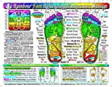 reflexology chart laminated - Rainbow FOOT Reflexology/ Acupressure Massage Chart, by Inner Light Resources