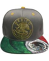a57821b3bdd Leader of Generation Hecho En Mexico Mexican Flag States Eagle Flatbill Snapback  Hat (MEX06 Grey