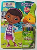 Doc Mcstuffins Bundle-(C) 80 Page Shaped Coloring and Activity Book with Stickers. Include's One Pack of Imagine Twist-up Crayons. Disney